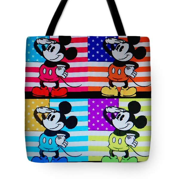 American Mickey Tote Bag by Rob Hans