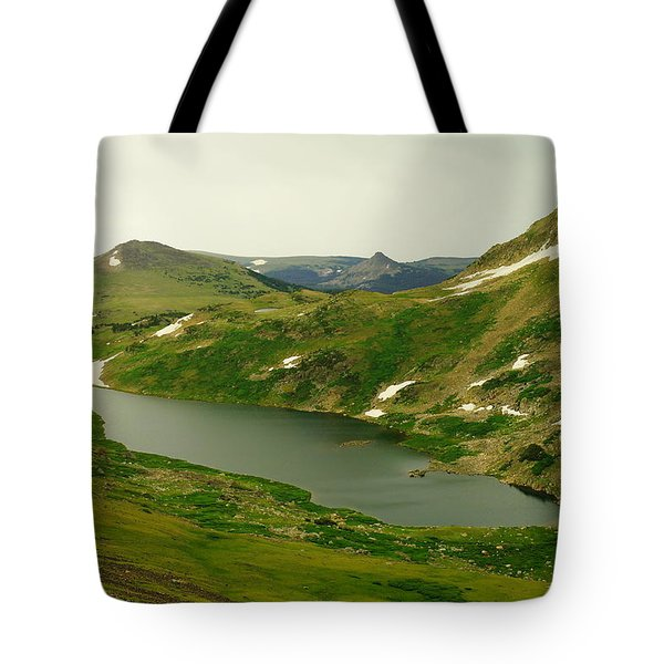 An Alpine Lake On Beartooth Pass Tote Bag