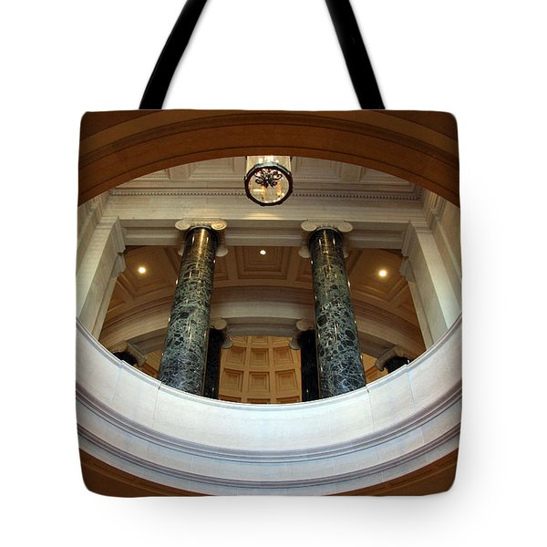 Tote Bag featuring the photograph An Oculus by Cora Wandel