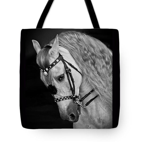 Tote Bag featuring the photograph Andalusian D9098 by Wes and Dotty Weber