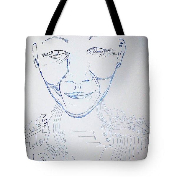 Angel Madiba - Nelson Mandela Tote Bag by Gloria Ssali