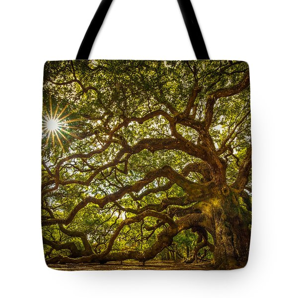 Tote Bag featuring the photograph Angel Oak by Serge Skiba