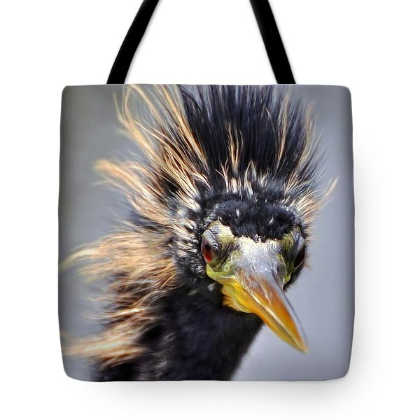 Tote Bag featuring the photograph Anhinga  by Savannah Gibbs