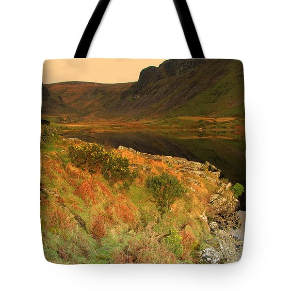 Tote Bag featuring the photograph Annascaul Lake by Barbara Walsh