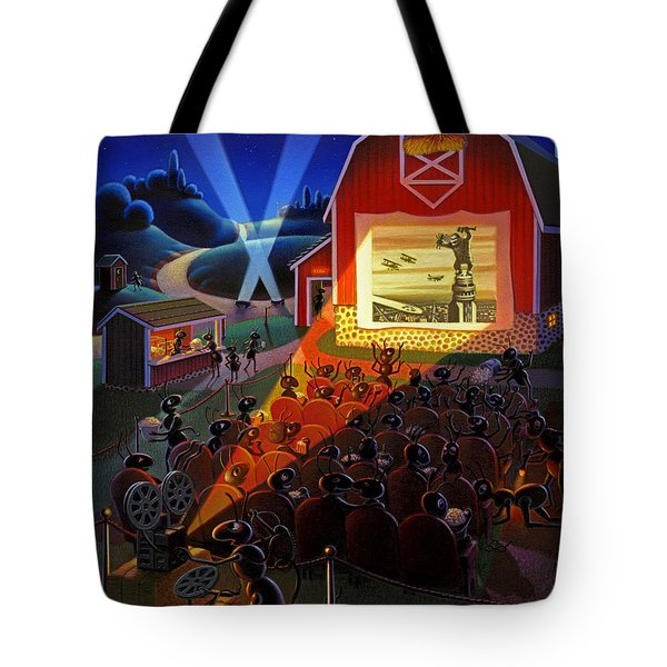 Ants At The Movies Tote Bag