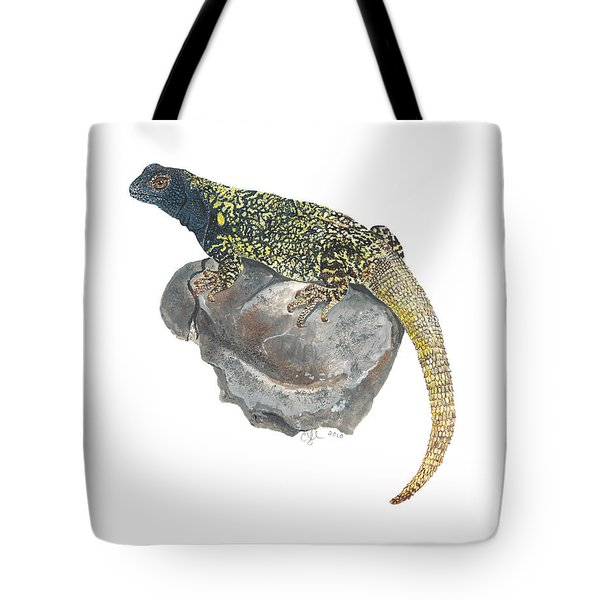 Argentine Lizard Tote Bag by Cindy Hitchcock