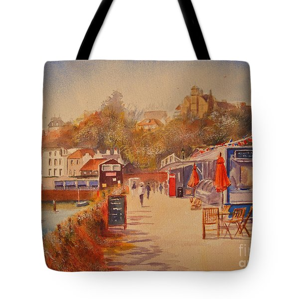 Tote Bag featuring the painting Around Folkestone Harbour by Beatrice Cloake