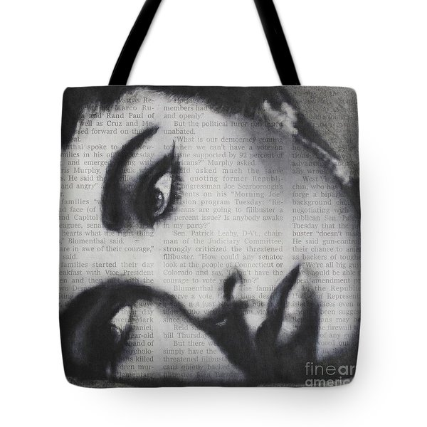 Art In The News 15-elizabeth Tote Bag by Michael Cross