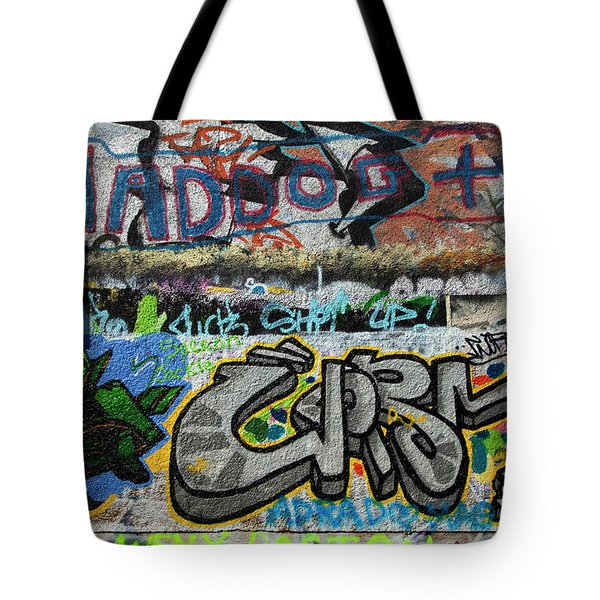 Artistic Graffiti On The U2 Wall Tote Bag