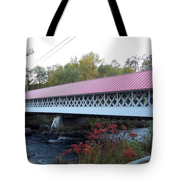 Ashuelot Covered Bridge Tote Bag by Catherine Gagne