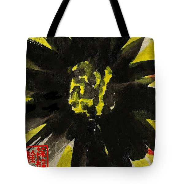 Tote Bag featuring the painting Asian Sunflower by Joan Reese