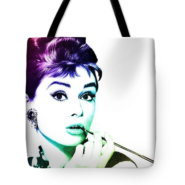 Audrey Hepburn Tote Bag by Marianna Mills