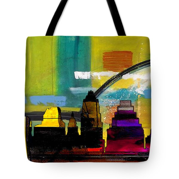 Austin Texas Skyline Watercolor Tote Bag by Marvin Blaine