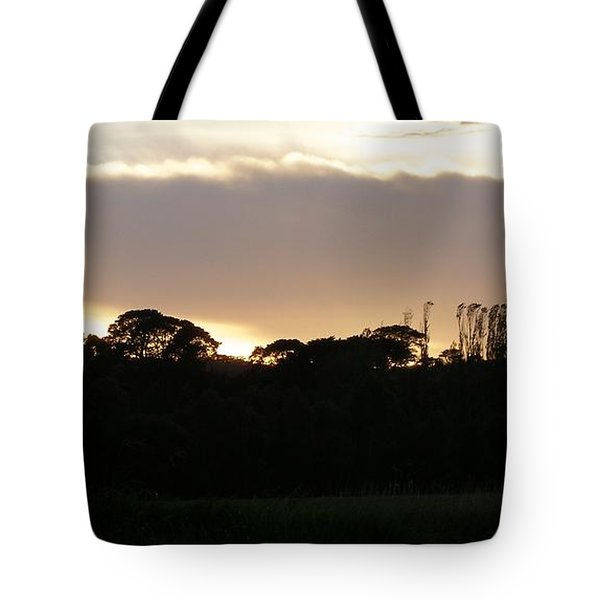 Australian Sunrise Tote Bag by Bev Conover