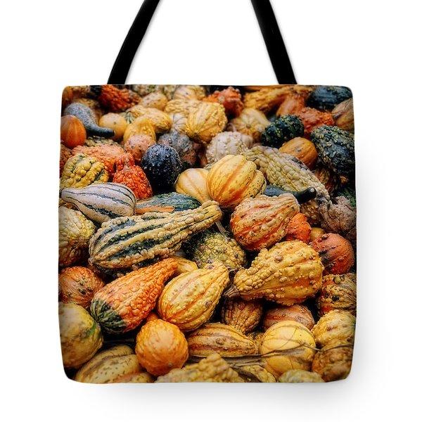 Autumn Gourds Tote Bag by Joann Vitali