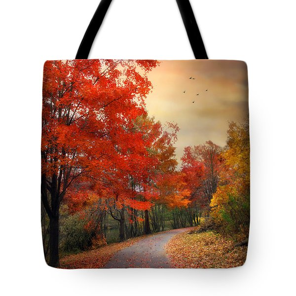 Tote Bag featuring the photograph Autumn Maples by Jessica Jenney