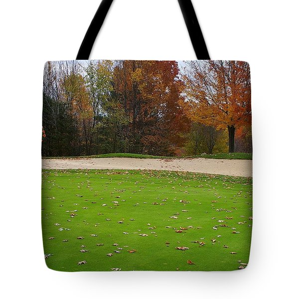 Autumn On The Green Tote Bag by Randy Pollard