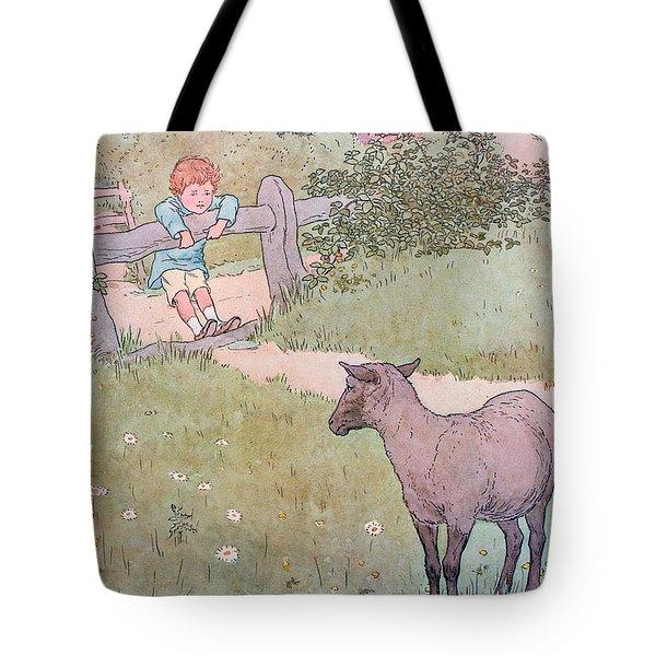 Baa Baa Black Sheep Tote Bag by Leonard Leslie Brooke