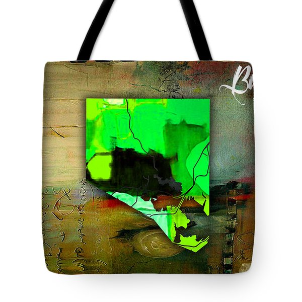 Baltimore Map Watercolor Tote Bag by Marvin Blaine