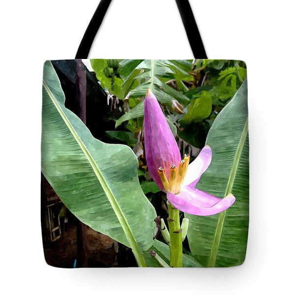 Banana Flower  Tote Bag by Lanjee Chee