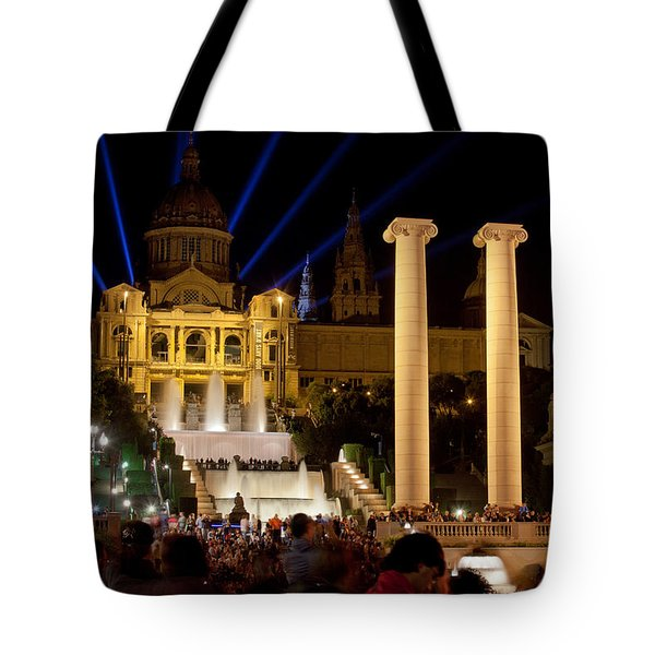 Barcelona By Night Tote Bag