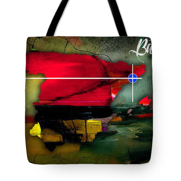 Barcelona Spain Map Watercolor Tote Bag