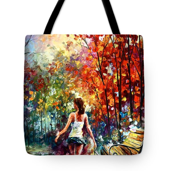 Barefooted Stroll Tote Bag by Leonid Afremov
