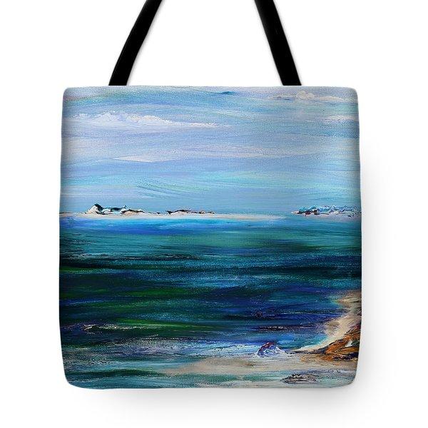 Barrier Islands Tote Bag by Regina Valluzzi