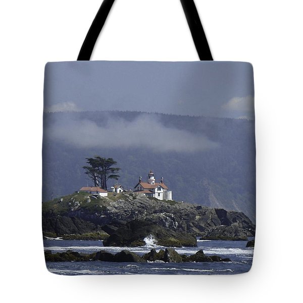 Tote Bag featuring the photograph Battery Point Lighthouse by Betty Depee