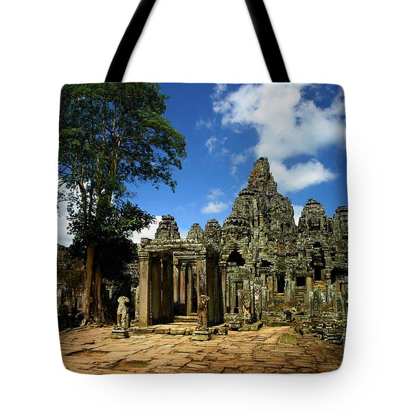 Bayon Temple View From The East Tote Bag by Joey Agbayani