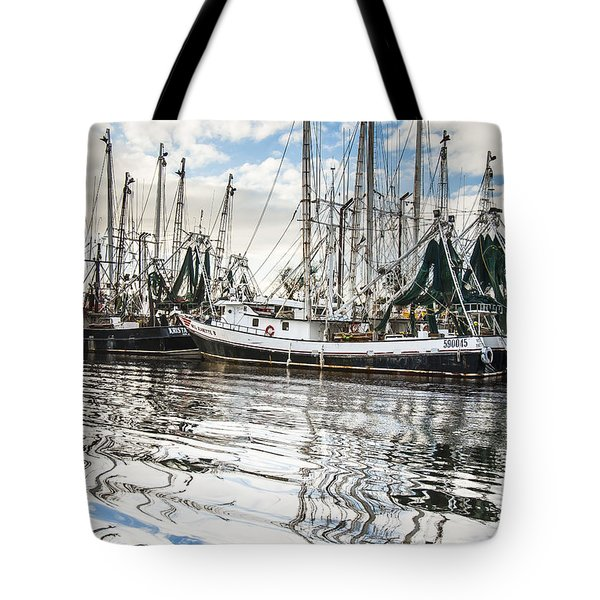 Bayou Labatre' Al Shrimp Boat Reflections Tote Bag