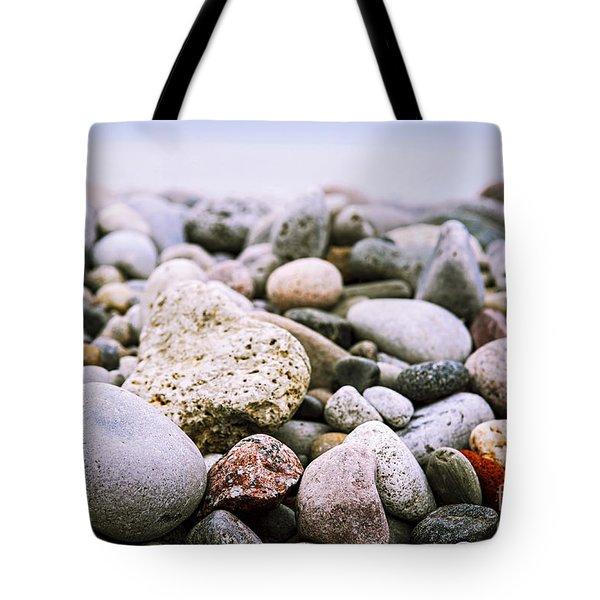 Beach Pebbles Tote Bag
