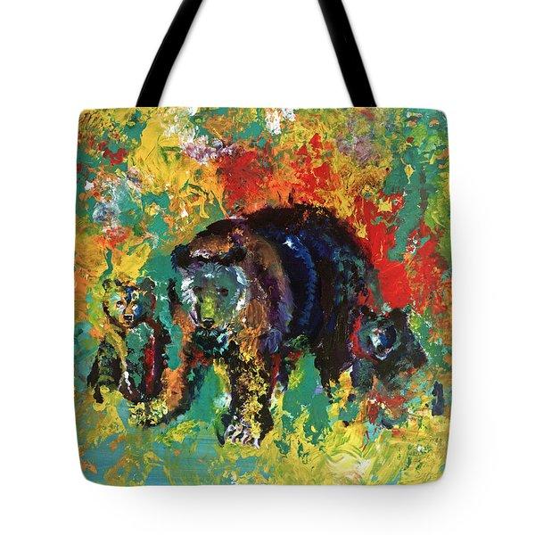 Bear Family Tote Bag by Peter Bonk