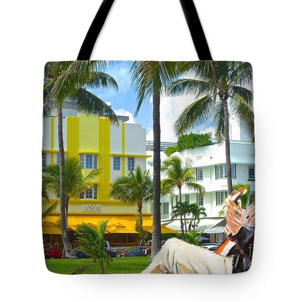 Beat Of Miami Tote Bag by Judy Kay