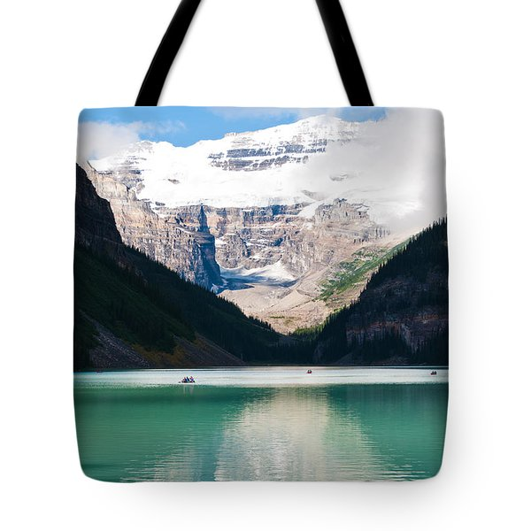 Tote Bag featuring the photograph Beautiful Lake Louise by Cheryl Baxter