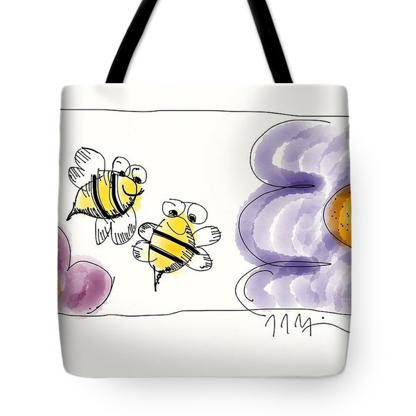 2 Bee Or Not To Bee Tote Bag by Jason Nicholas