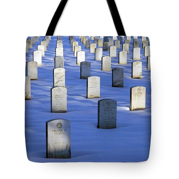 Tote Bag featuring the photograph Beneath The Snow by Cora Wandel