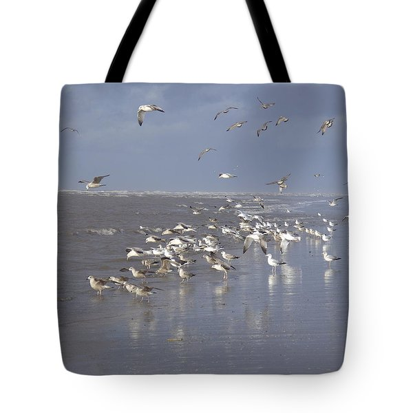 Birds At The Beach Tote Bag
