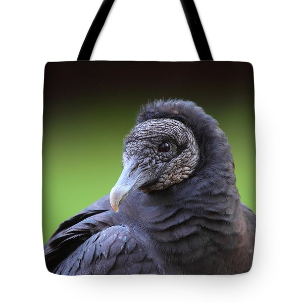 Black Vulture Portrait Tote Bag by Bruce J Robinson