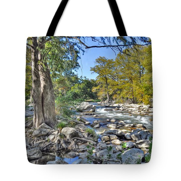 Guadalupe River Tote Bag by Savannah Gibbs
