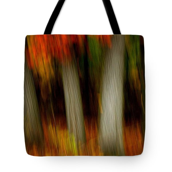 Blazing In The Woods Tote Bag