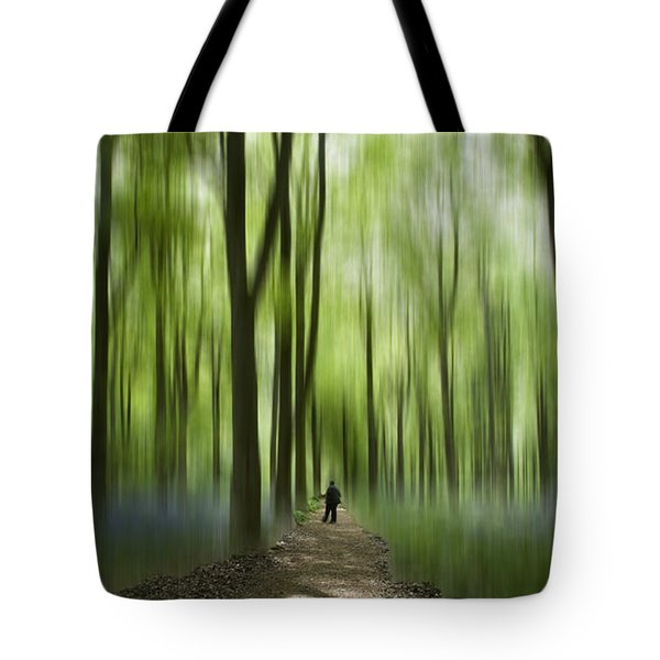 Blue Bell Art Digital Art Tote Bag