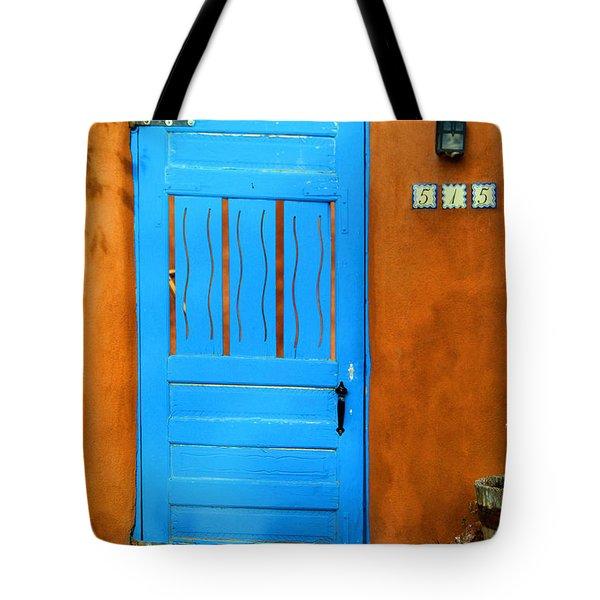 Blue Door In Santa Fe Tote Bag