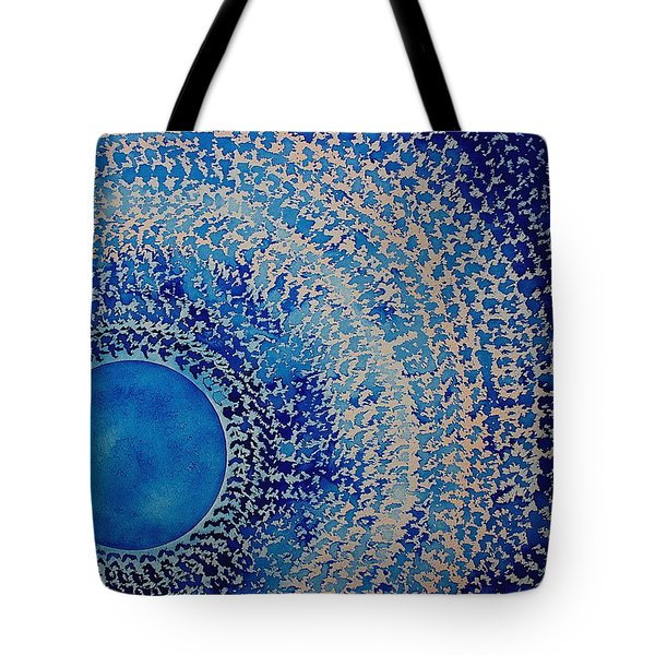 Blue Kachina Original Painting Tote Bag by Sol Luckman