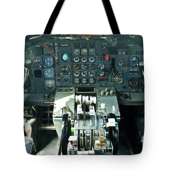 B727 Cockpit Tote Bag