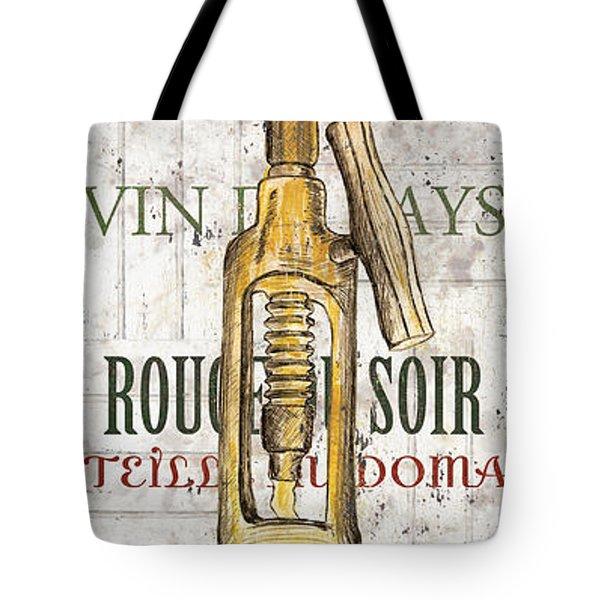 Bordeaux Blanc 1 Tote Bag by Debbie DeWitt