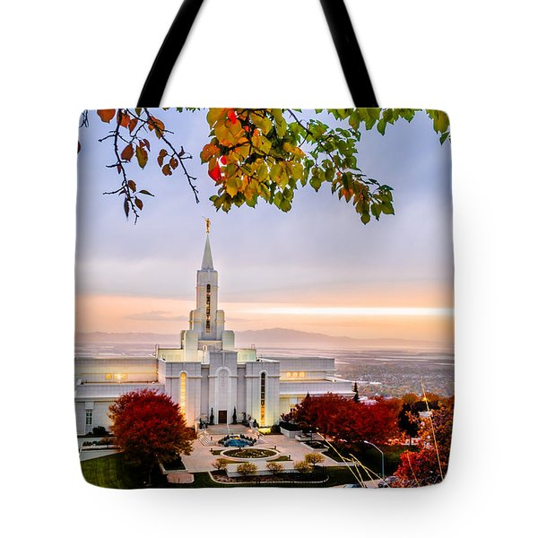 Bountiful Temple Leaves Tote Bag