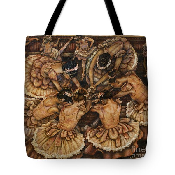 Bouquet Of Ballet    Tote Bag by Linda Simon