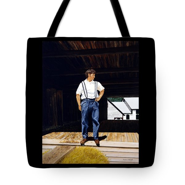 Boy In The Barn Tote Bag
