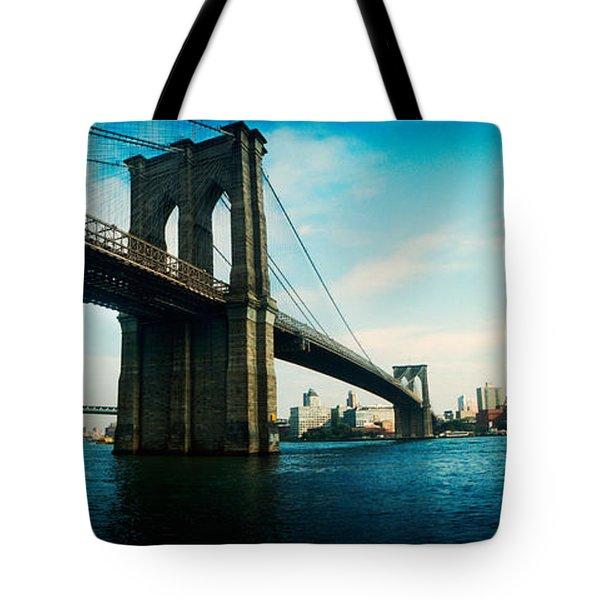 Bridge Across A River, Brooklyn Bridge Tote Bag